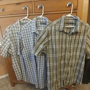 XL Men's Button Down Plaid Shirts, Lot of 3